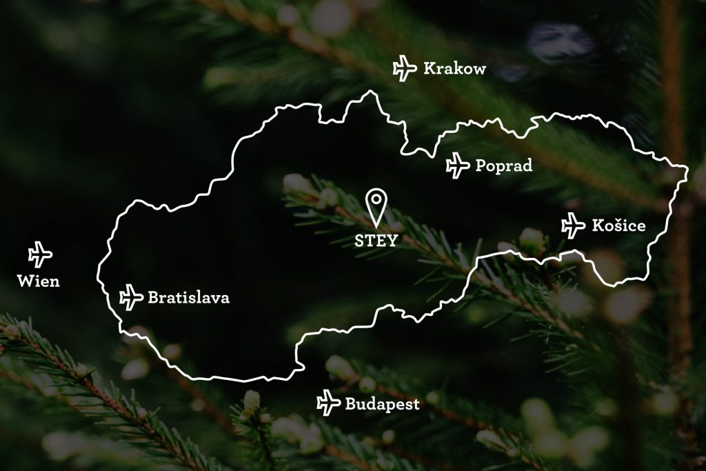 Mapa Stey